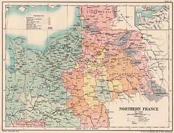 Nordfrankreich Karte.Amazon De Nordfrankreich Karte Normandie Und Die Sektoren Nicht