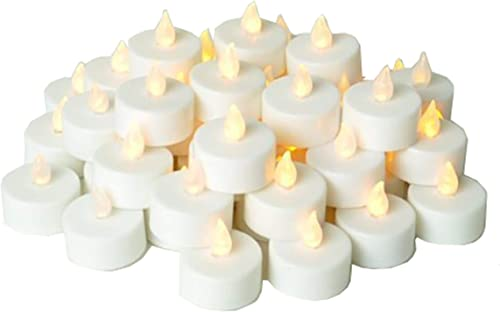 Instapark LCL Series Battery Powered Flameless LED Tealight Candles 48 Pack