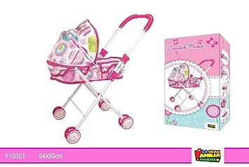 Amazon.es: LGFToys - Carro para muñecas con cuna y capota.: Juguetes y juegos