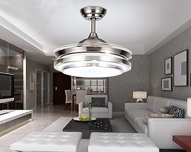 Ventilador de techo invisible LED con control remoto, ventilador ...