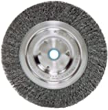 "Weiler 2325 Vortec Pro Medium Face Bench Grinder Wheel, 6"", 0.14"" Crimped Steel Wire Fill, 5/8""-1/2"" Arbor Hole"