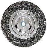 Weiler 2325 Vortec Pro Medium Face Bench Grinder Wheel, 6'', 0.14'' Crimped Steel Wire Fill, 5/8''-1/2'' Arbor Hole