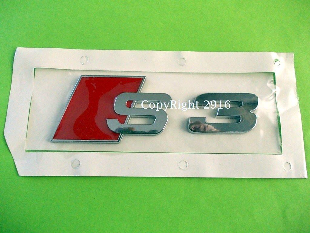 logo S3 pour audi embleme sigle badge de coffre a3 rs3