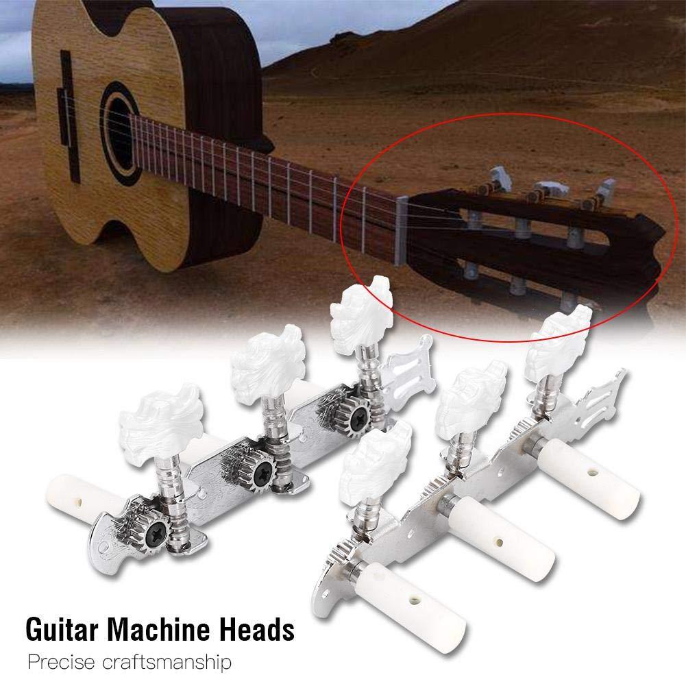 Dilwe Clavija de Afinación de Guitarra, Clásica Afinador de Cuerdas de Guitarra Cabeza de la Maquina: Amazon.es: Deportes y aire libre