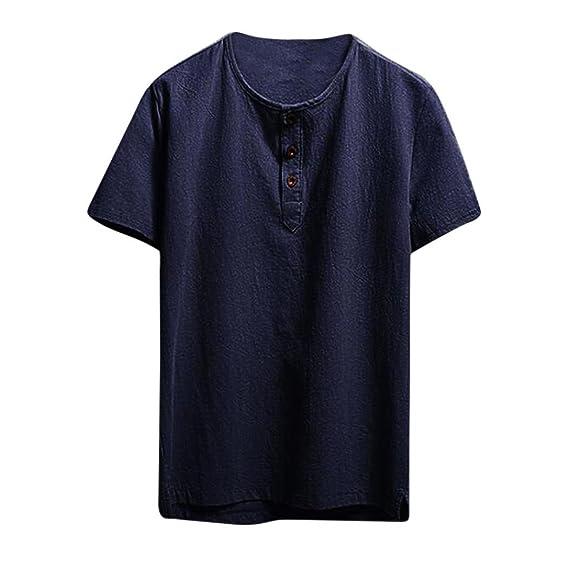 Lenfesh camisetas cuello redondo manga corta hombres basicas camiseta verano talla grande blancas negro M-5XL IAEBQqZcsB