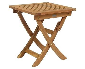 Bentley Garden - Mesa plegable de jardín pequeña y cuadrada - De madera balau
