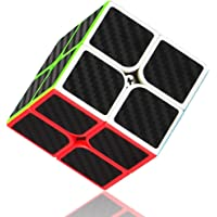 Syolee Speed Cube 2x2 Carbon Fiber Sticker Smooth Magic Cube 3D Puzzle Toys for Kids and Adults