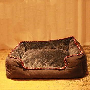 LJ-PET Felpa Cama de Perro, Lavable Cubierta extraíble, Antideslizante Portátil Durable Perrera-C L: Amazon.es: Productos para mascotas