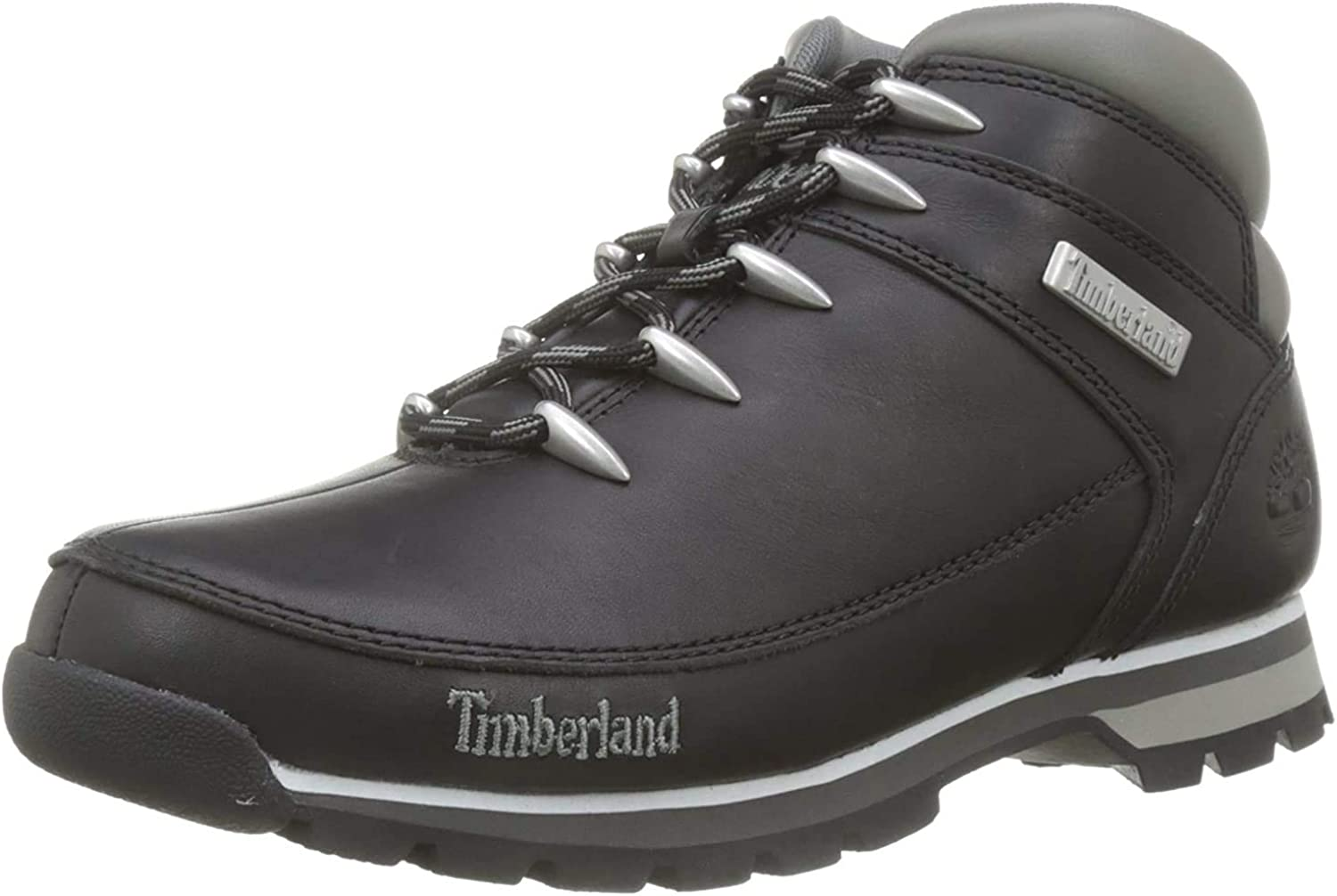 Timberland Men s Euro Sprint Black Smooth Leather Hiking-Boots 10 UK 10.5 D M US