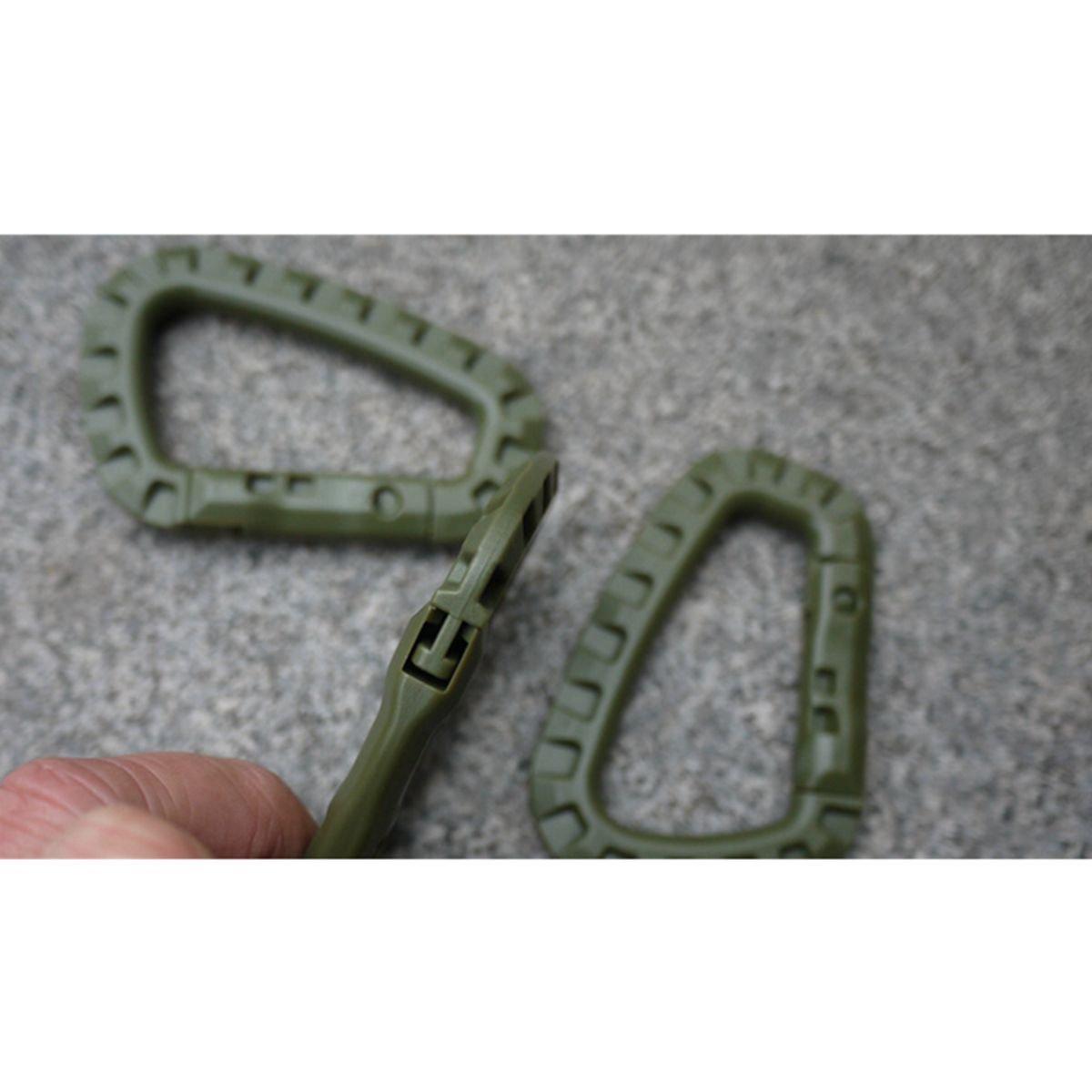 Verde D-Ring moschettone portachiavi Tactical Link Zaino Accessori moschettone 2 pezzi Leggero gancio Outdoor tattico TIANOR Moschettone a gancio per arrampicata ed escursionismo