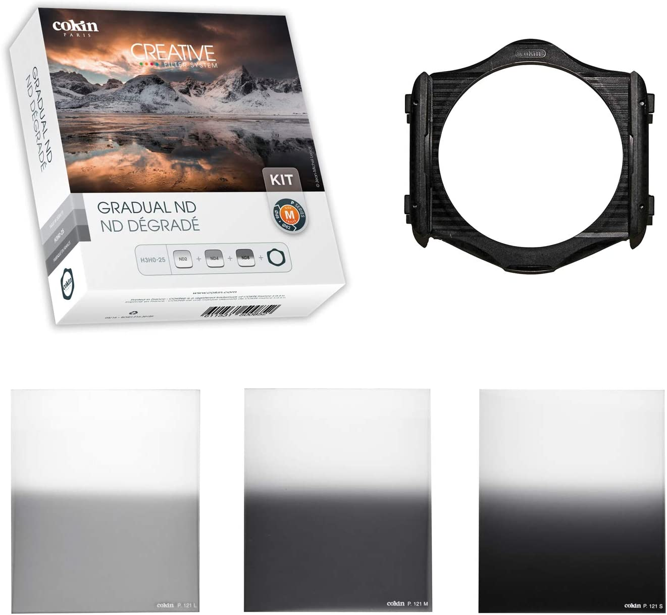 ZOMEI Square Gradual Filter GND2+4+8+16 Gradual Neutral Density Filter+Filter Holder+Bag+86mm Adapter Ring
