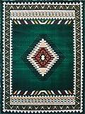 South West Native American Area Rug Design D 143 Hunter Green (8 Feet X 10 Feet)