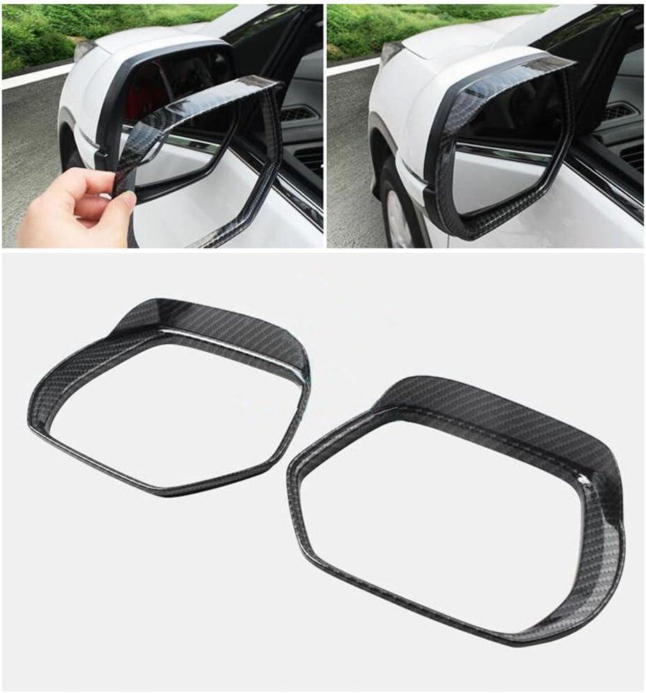 Mavis Fibra de Carbono Vista Trasera Espejo Lateral Visera Sombra Protector contra la Lluvia Tablero para CRV