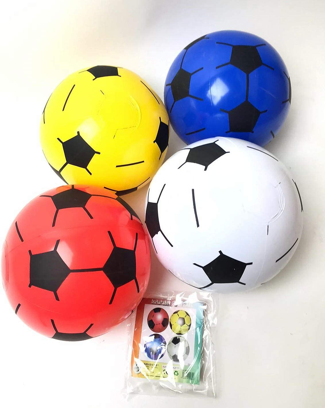 Gifts 4 All Occasions Limited SHATCHI-1115 Shatchi-5 x PVC Inflatable Football