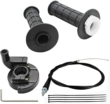 Bike Throttle Handle Grips Grip Cable Kit For Mini Baja Mb165 Mb200 Doodlebug