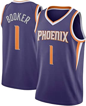 Devin Booker 1# Baloncesto Jersey Nueva Temporada Bordado ...