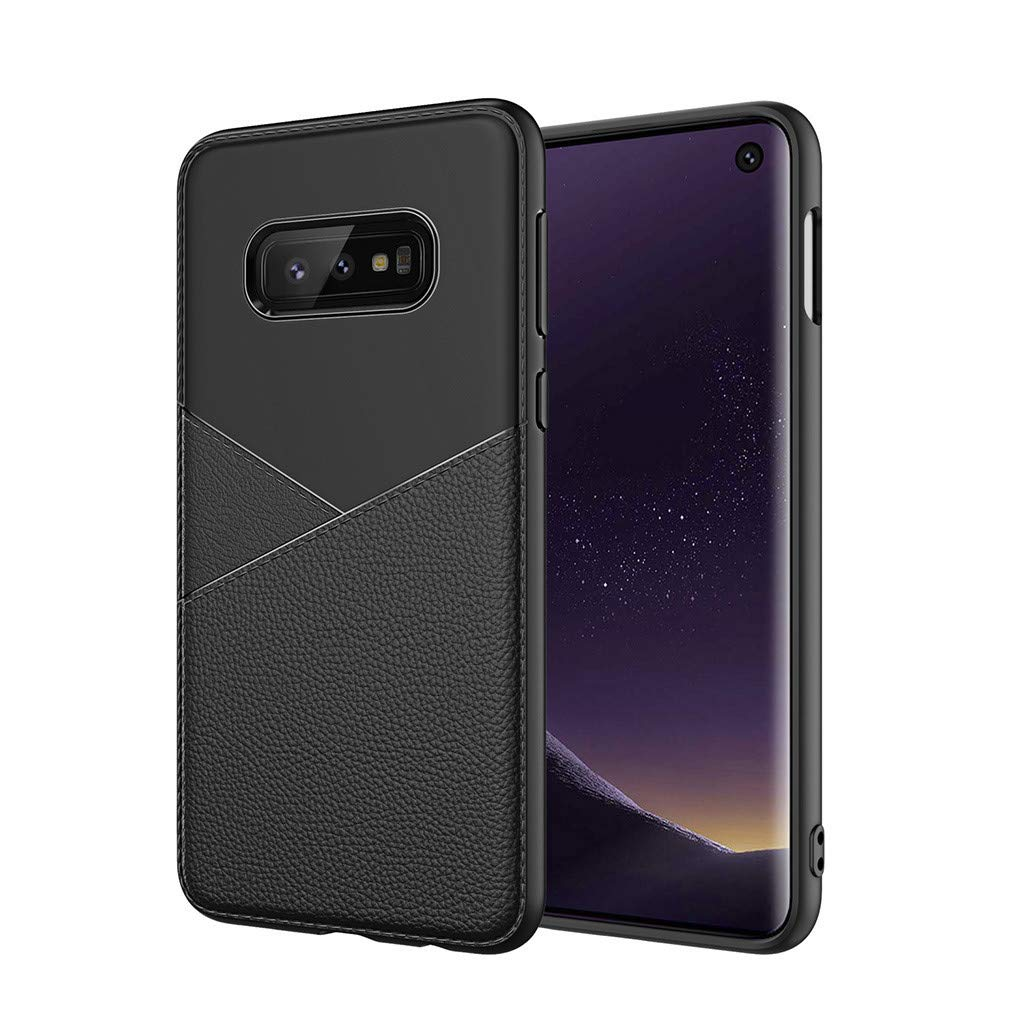 Fiaya Suitable for Samsung Galaxy S10E Case Rugged TPU Business Case Cover 5.8inch (Black)