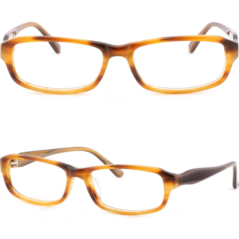 Rectangle Wood Grain Acetate Mens Womens Brown Frames Glasses Sunglasses