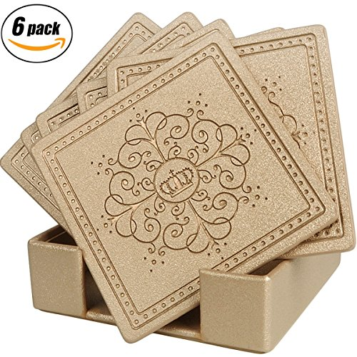 Coasters Leather Pattern Absorbent Happydavid product image