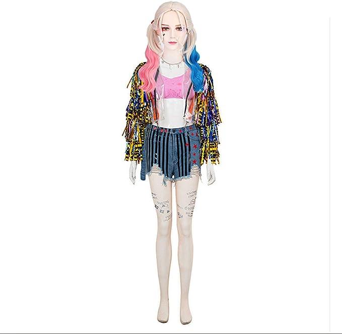 yacn Disfraz de Harley Quinn para Mujer, Disfraz de Halloween 2020 ...