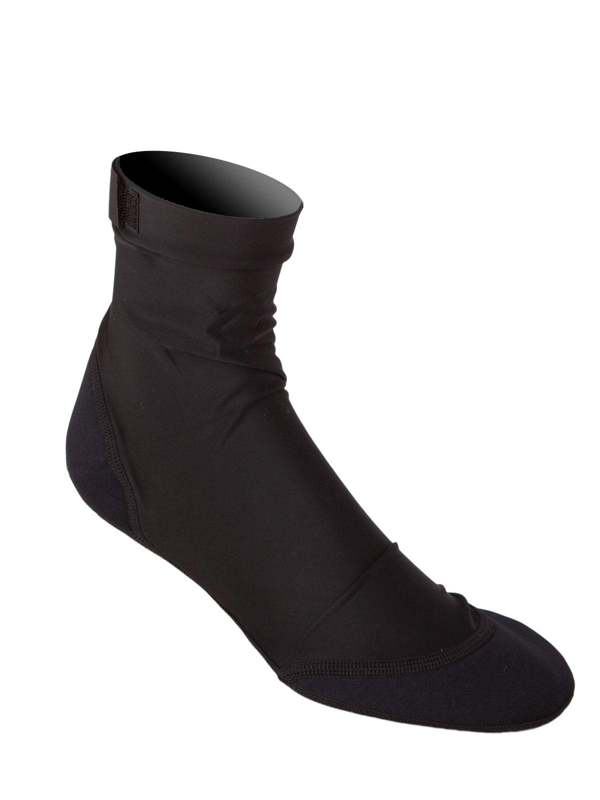 Sand Socks Vincere for Soccer, Volleyball, Snorkeling XXS All Black (no Logo)