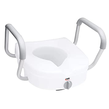 Swell Carex Health Brands Ez Lock Raised Toilet Seat With Adjustable And Removable Arms Inzonedesignstudio Interior Chair Design Inzonedesignstudiocom