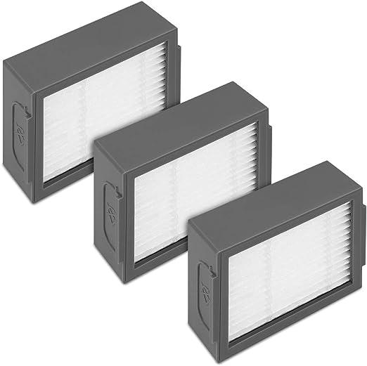 kwmobile Set de 3 filtros de Repuesto para Roomba - e5 / i7 / i7+ ...