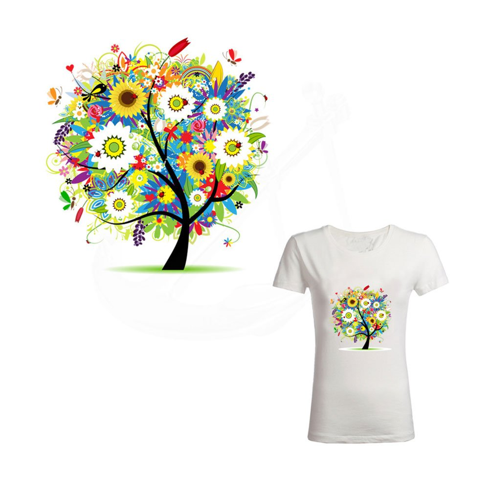 Amazon 21 X 20cm Iron On Patches For Clothes Flower Tree