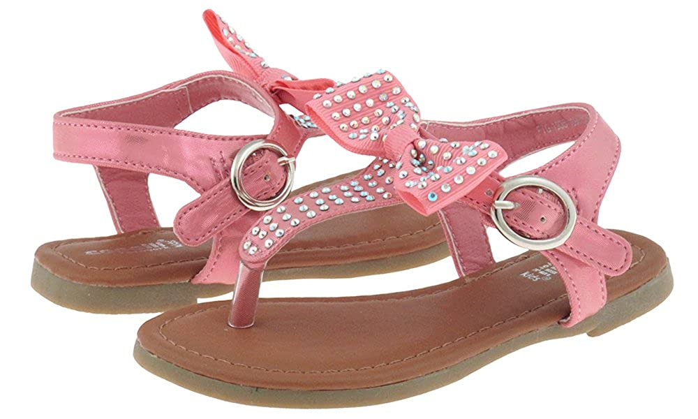 Capelli New York Metallic Shimmer Faux Leather Toddler Girls Sandals FTG-1935