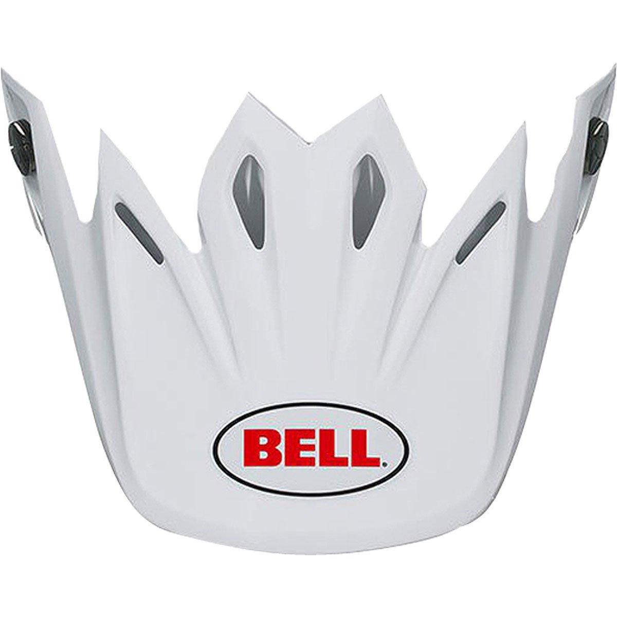 Bell Moto-9 Flex Solid Visor Street Motorcycle Helmet Accessories - White/One Size