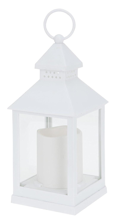Viscio Trading 172503 Lanterna con Candela LED, Metallo, Trasparente, 23X0.1X0.1 cm VISFL