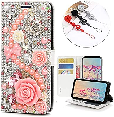 Amazon.com: STENES Bling Wallet Case - Elegante - 3D hecho a ...