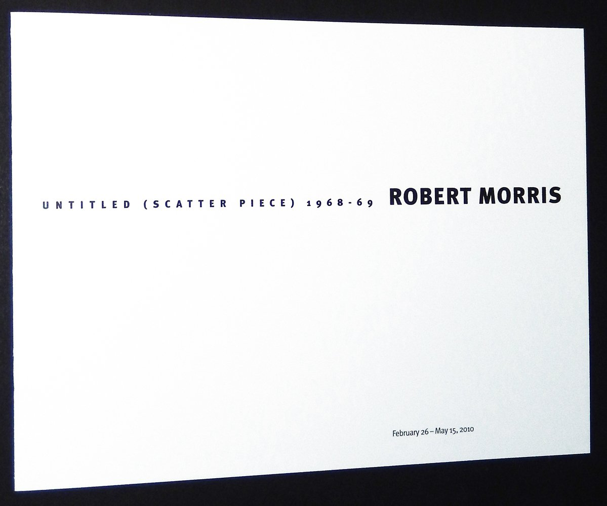 robert morris untitled scatter piece 1968 1969