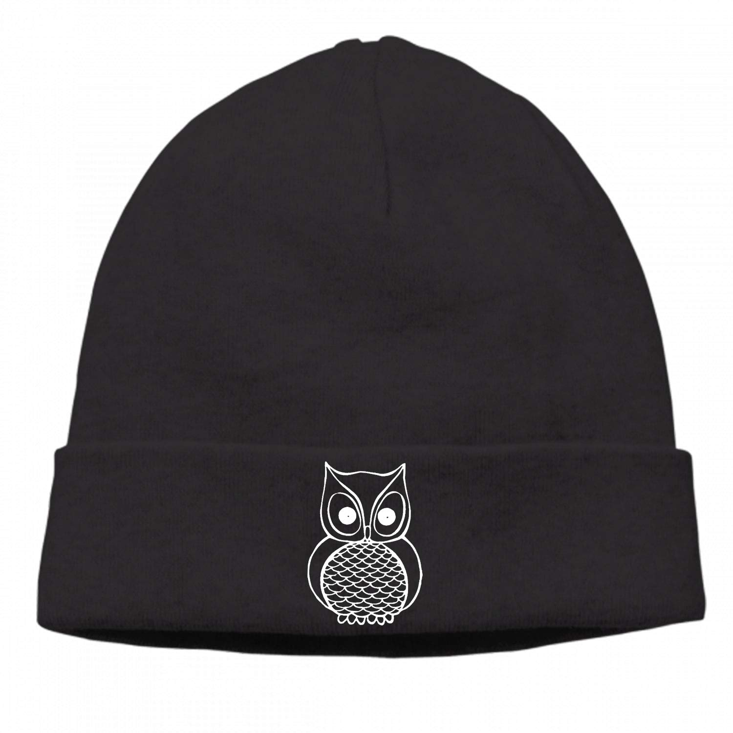 Eartha Tracy Winter Newsboy Cable Knitted Visor Beanie Hat with I Love Owls