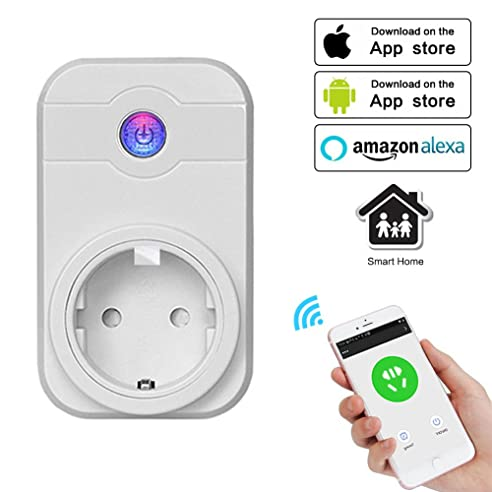 WI FI Smart Steckdose Smart Plug WLAN Intelligente Steckdose(EU Stecker)  Wireless Smart