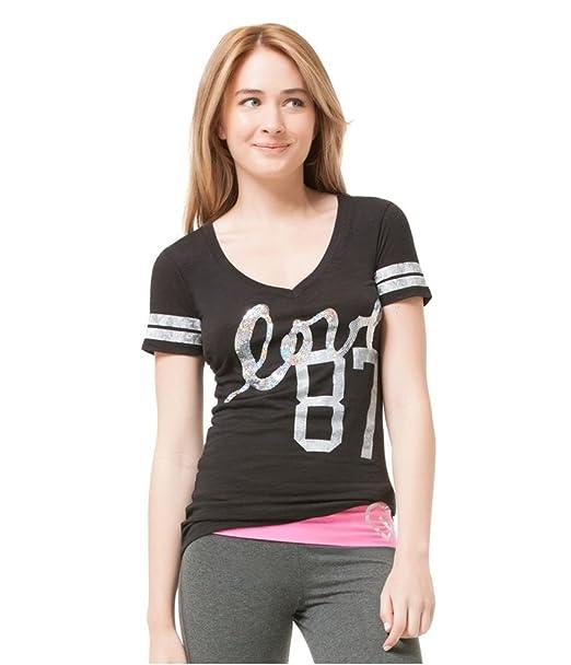 Aeropostale Womens 87 Graphic T-Shirt 001 XS Juniors