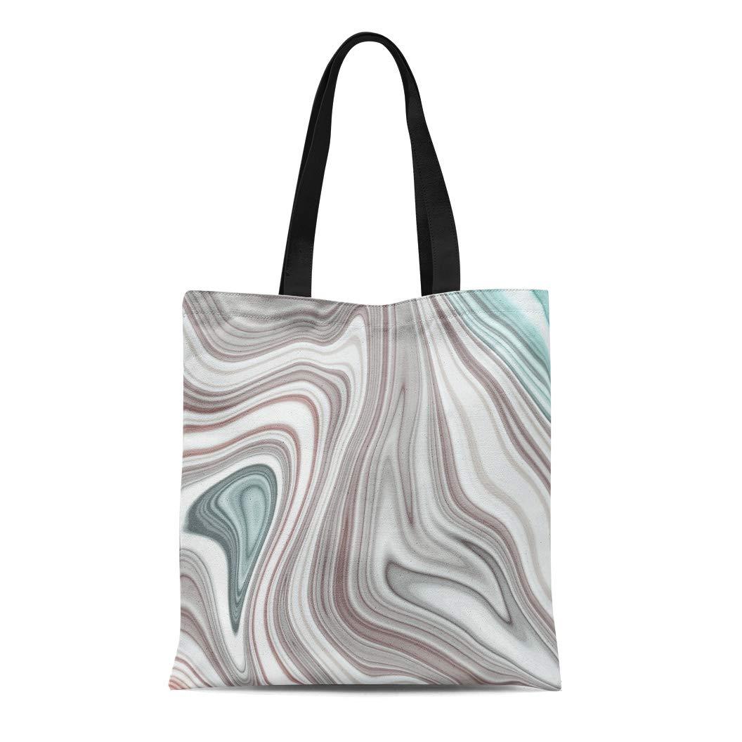 bb69a5d44f59 Amazon.com: Semtomn Cotton Canvas Tote Bag Blue Pattern Sea Anchor ...