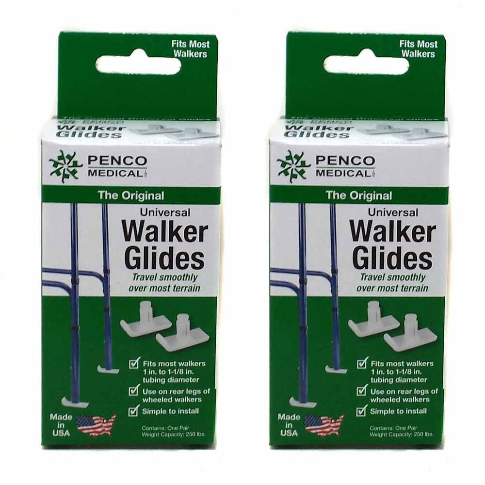 Penco Medical Universal Walker Glides - White - 2 Pairs