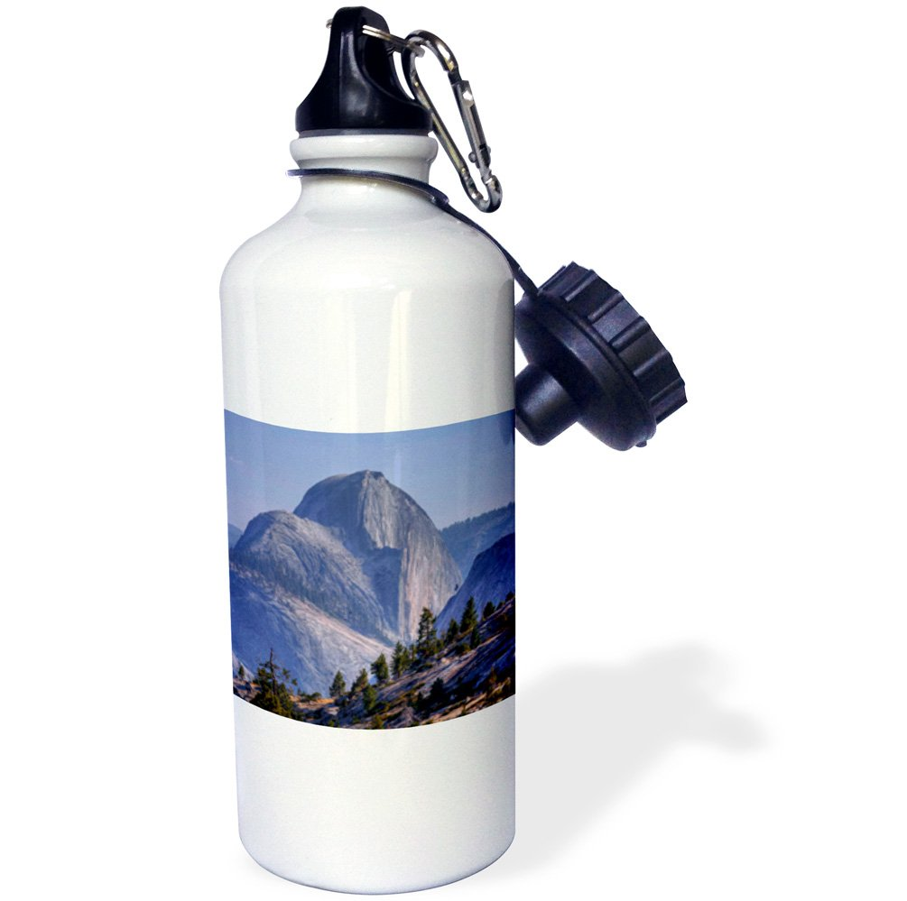 California 3dRose wb/_142650/_1USA Half Dome US05 BJY0061 Jaynes Gallery Sports Water Bottle Yosemite National Park White 21 oz