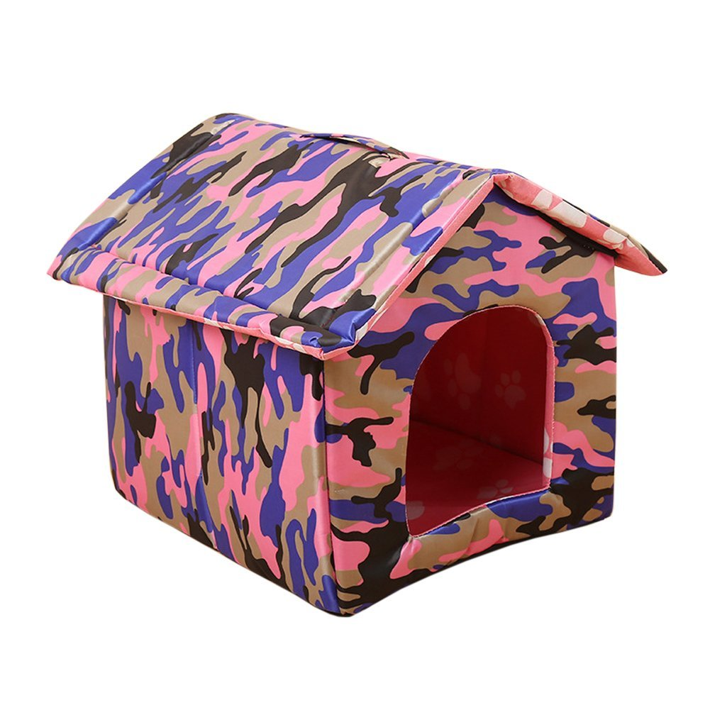 Garden Land Portable Folding CAT House - Soft, Warm,Waterproof and Comfortable and goes Everywhere