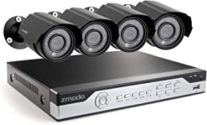 Zmodo 4 Channel Security Camera System DVR & 4 x 700TVL Analog Cameras with 500GB Hard Drive