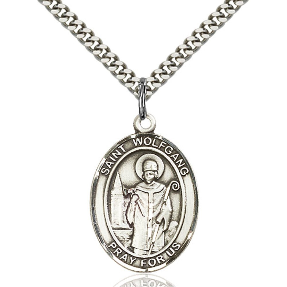 Wolfgang Hand-Crafted Oval Medal Pendant in Sterling Silver Bonyak Jewelry St