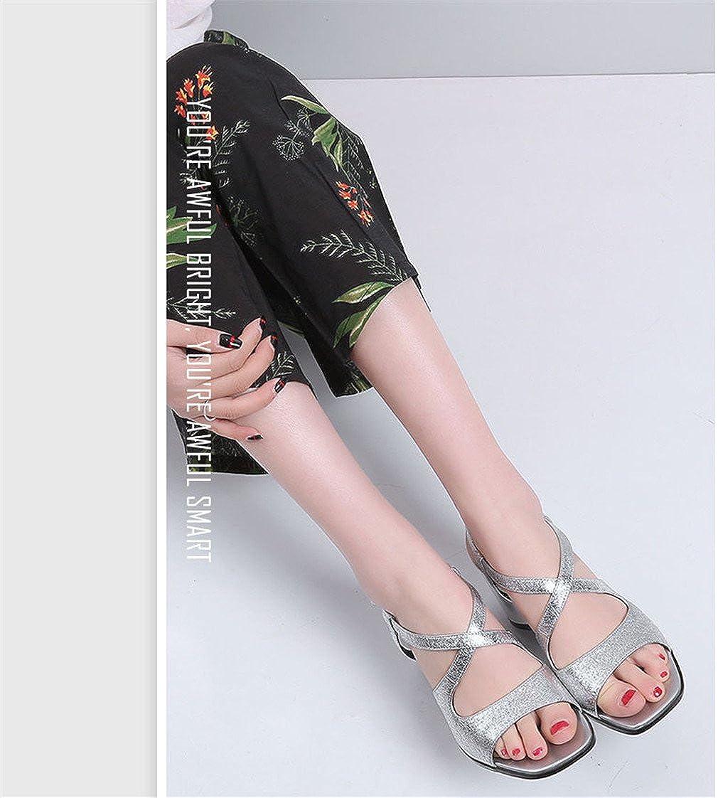 Sandalen Frauen Damen Weibliche Schuhe Offene Spitze Gürtelschnalle Tasche Transparente Gürtelschnalle Spitze Hohe Mitte Heels Seite Hohl Grob Quadrat Kopf Hasp Silver de56e6