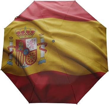 Parasol con Bandera de España UPF 50+, Resistente al Agua ...