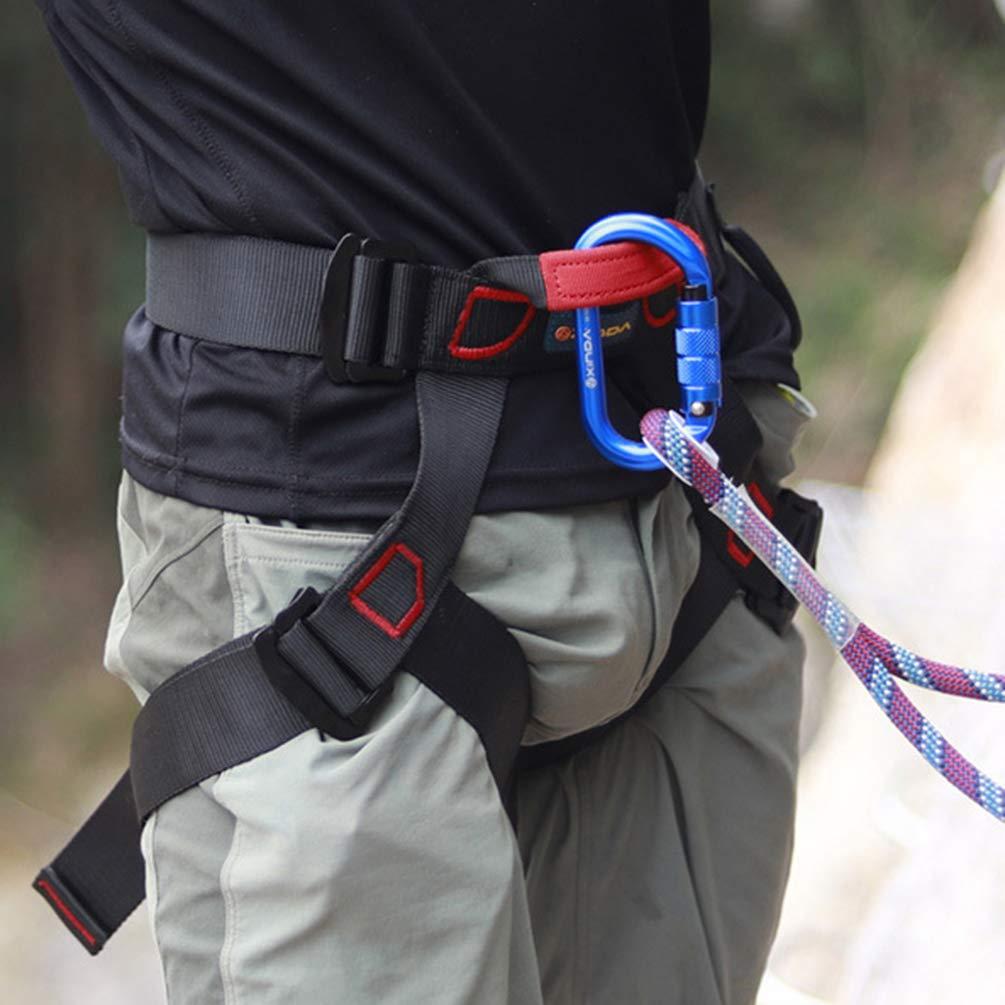 Imbracatura da Arrampicata Professionale Ad Alta Capacit/à di Carico Imbracatura a Mezzo Corpo per Arrampicata Su Alberi Alpinismo Outdoor Training Rappelling Equip