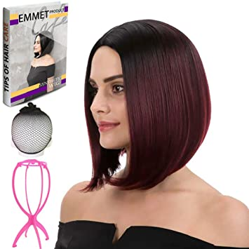 Amazon Com Emmet Short Bob Wig 12 Shoulder Length Soft Silk
