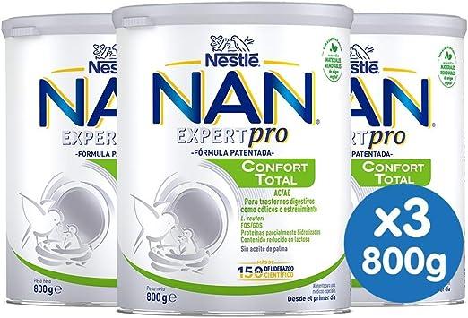Nan Confort Total Leche Especial Para Bebés Con Trastornos Digestivos Leves Tales Como Cólicos O Estreñimientos - 3 latas x 800 g