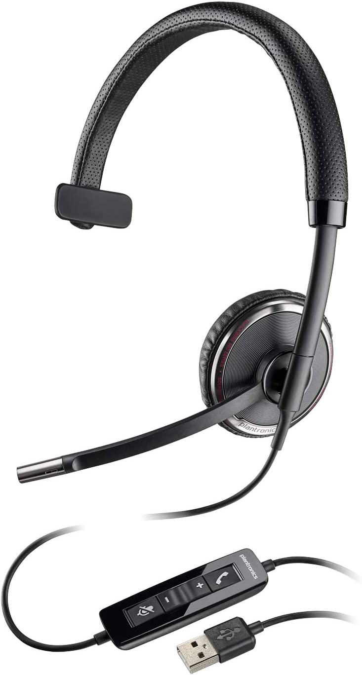 Plantronics Blackwire 510 USB Headset, On-Ear Mono Headset, Wired