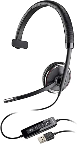 Plantronics Blackwire 510 USB Headset, On-Ear Mono Headset, Wired