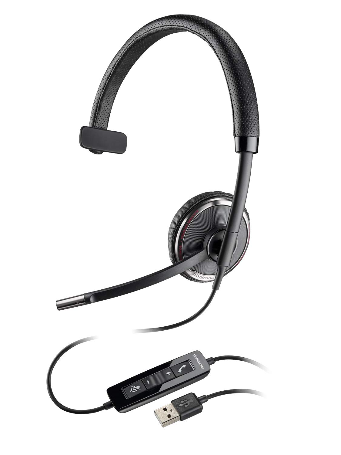 Plantronics Blackwire C510-M Monaural Over-the-Head Corded Headset, Microsoft Optimized